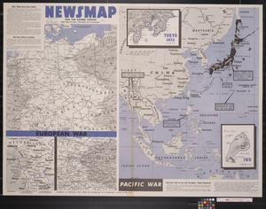 Primary view of object titled 'Newsmap. For the Armed Forces. 285th week of the war, 167th week of U.S. participation'.