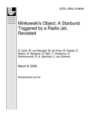 Primary view of object titled 'Minkowski's Object: A Starburst Triggered by a Radio Jet, Revisited'.