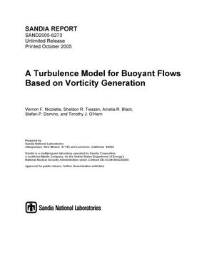 Primary view of object titled 'A turbulence model for buoyant flows based on vorticity generation.'.