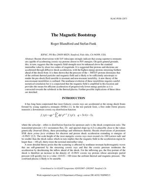 Primary view of object titled 'The Magnetic Bootstrap'.