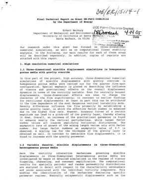 Primary view of object titled 'Final Technical Report on Grant DE-FG03-00ER15114'.