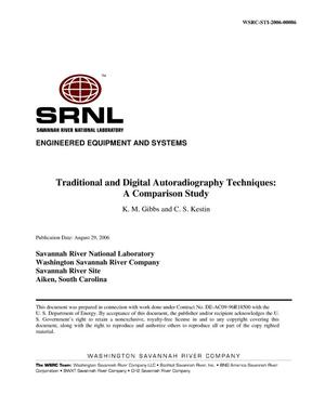 Primary view of object titled 'TRADITIONAL AND DIGITAL AUTORADIOGRAPHY TECHNIQUES: A COMPARISON STUDY'.