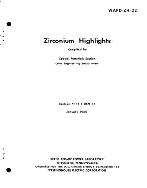 Primary view of object titled 'Zirconium Highlights'.