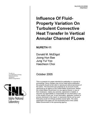 Primary view of object titled 'Influence of fluid-property variation on turbulent convective heat transfer in vertical annular channel flows.'.