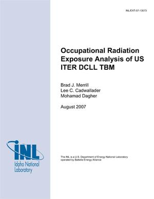 Primary view of object titled 'Occupational Radiation Exposure Analysis of US ITER DCLL TBM'.