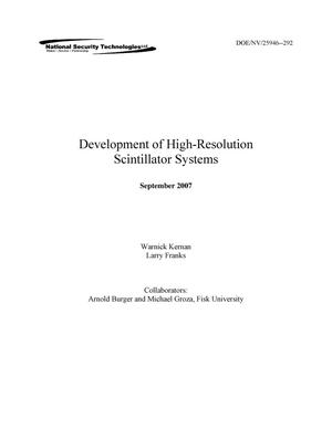 Primary view of object titled 'Development of High-Resolution Scintillator Systems'.