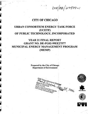 Primary view of object titled 'Urban Consortium Energy Task Force - Year 21 Final Report'.
