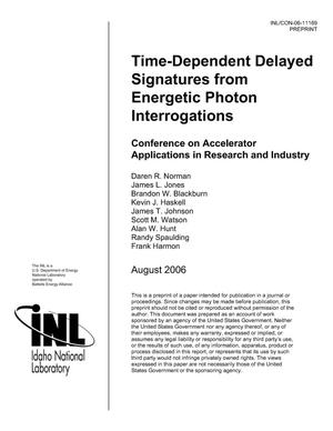 Primary view of object titled 'Time-Dependent Delayed Signatures From Energetic Photon Interrogations'.