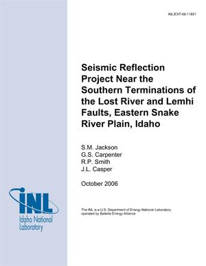 Primary view of object titled 'Seismic Reflection Project Near the Southern Terminations of the Lost River and Lemhi Faults, Eastern Snake River Plain, Idaho'.