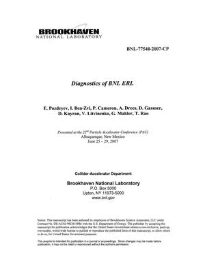 Primary view of object titled 'DIAGNOSTICS OF BNL ERL'.