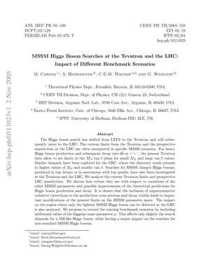 Primary view of object titled 'MSSM Higgs boson searches at the Tevatron and the LHC: Impact of different benchmark scenarios'.