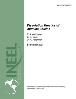 Primary view of object titled 'Dissolution Kinetics of Alumina Calcine'.