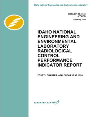 Primary view of object titled 'INEEL Radiological Control Performance Indicator Report - Quarterly'.
