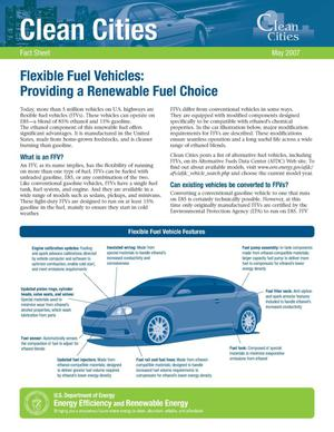 Primary view of object titled 'Flexible Fuel Vehicles: Providing a Renewable Fuel Choice'.