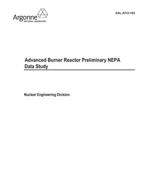Primary view of object titled 'Advanced Burner Reactor Preliminary NEPA Data Study.'.