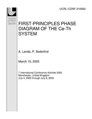 Primary view of object titled 'FIRST-PRINCIPLES PHASE DIAGRAM OF THE Ce-Th SYSTEM'.