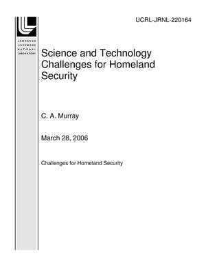 Primary view of object titled 'Science and Technology Challenges for Homeland Security'.