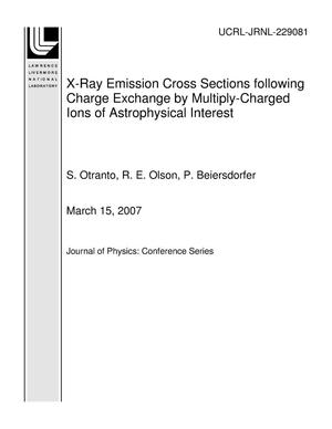 Primary view of object titled 'X-Ray Emission Cross Sections following Charge Exchange by Multiply-Charged Ions of Astrophysical Interest'.