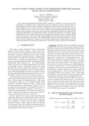 Primary view of object titled 'Accurate Iterative Analysis Solution of theKapchinskij-Vladimirskij Equations for the Case of a Matched Beam'.