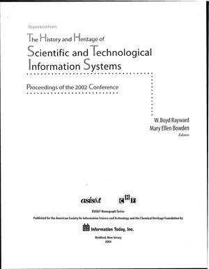 Primary view of object titled 'Intergovernmental cooperation for mission-oriented information systems: a memoir'.