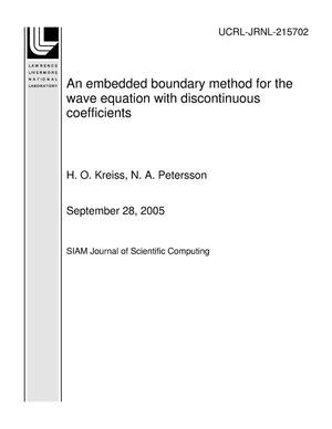 Primary view of object titled 'An embedded boundary method for the wave equation with discontinuous coefficients'.