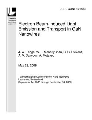 Primary view of object titled 'Electron Beam-induced Light Emission and Transport in GaN Nanowires'.
