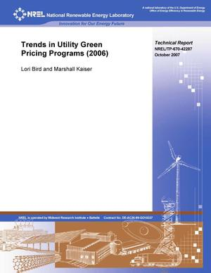 Primary view of object titled 'Trends in Utility Green Pricing Programs (2006)'.