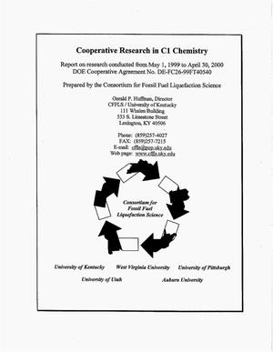 Primary view of object titled 'Cooperative Research in C1 Chemistry'.