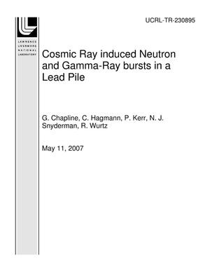 Primary view of object titled 'Cosmic Ray induced Neutron and Gamma-Ray bursts in a Lead Pile'.