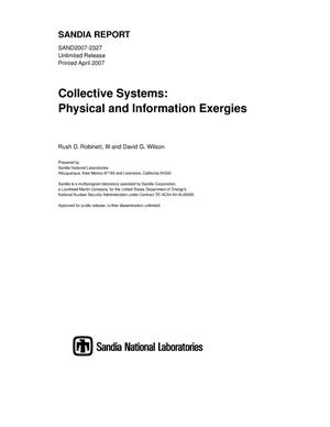 Primary view of object titled 'Collective systems:physical and information exergies.'.
