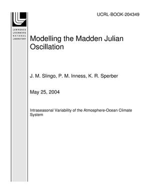 Primary view of object titled 'Modelling the Madden Julian Oscillation'.