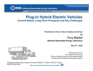 Primary view of object titled 'Plug-In Hybrid Electric Vehicles (Presentation)'.