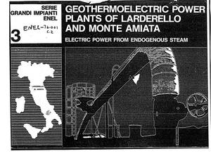 Primary view of object titled 'Geothermoelectric Power Plants of Larderello and Monte Amiata, Electric Power from Endogenous Steam'.