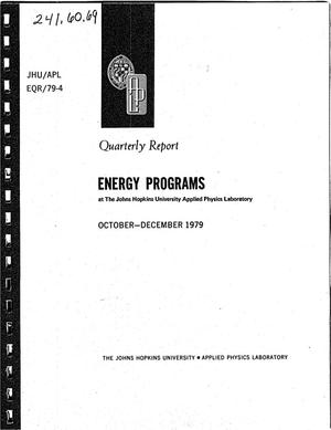 Primary view of object titled 'Energy Programs at the Johns Hopkins University Applied Physics Laboratory. Quarterly report, October-December 1979'.