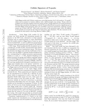 Primary view of object titled 'Collider signature of T-quarks'.