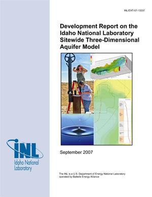 Primary view of object titled 'Development Report on the Idaho National Laboratory Sitewide Three-Dimensional Aquifer Model'.