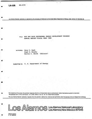 Primary view of object titled 'Hot Dry Rock Geothermal Energy Development Program Annual Report Fiscal Year 1988'.