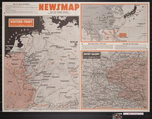 Primary view of object titled 'Newsmap. For the Armed Forces. 284th week of the war, 166th week of U.S. participation'.