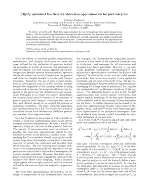 Primary view of object titled 'Highly optimized fourth-order short-time approximation for pathintegrals'.