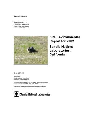 Primary view of object titled 'Site environmental report for 2002.'.