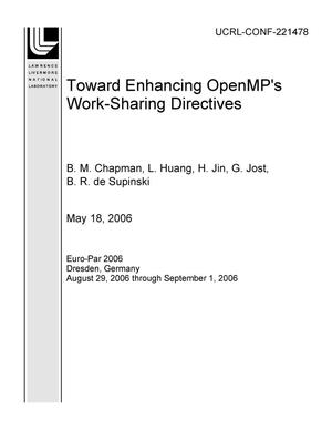 Primary view of object titled 'Toward Enhancing OpenMP's Work-Sharing Directives'.