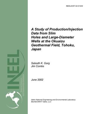 Primary view of object titled 'A Study of Production/Injection Data from Slim Holes and Large-Diameter Wells at the Okuaizu Geothermal Field, Tohoku, Japan'.