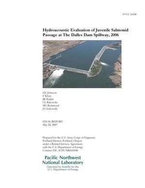 Primary view of object titled 'Hydroacoustic Evaluation of Juvenile Salmonid Passage at The Dalles Dam Spillway, 2006'.