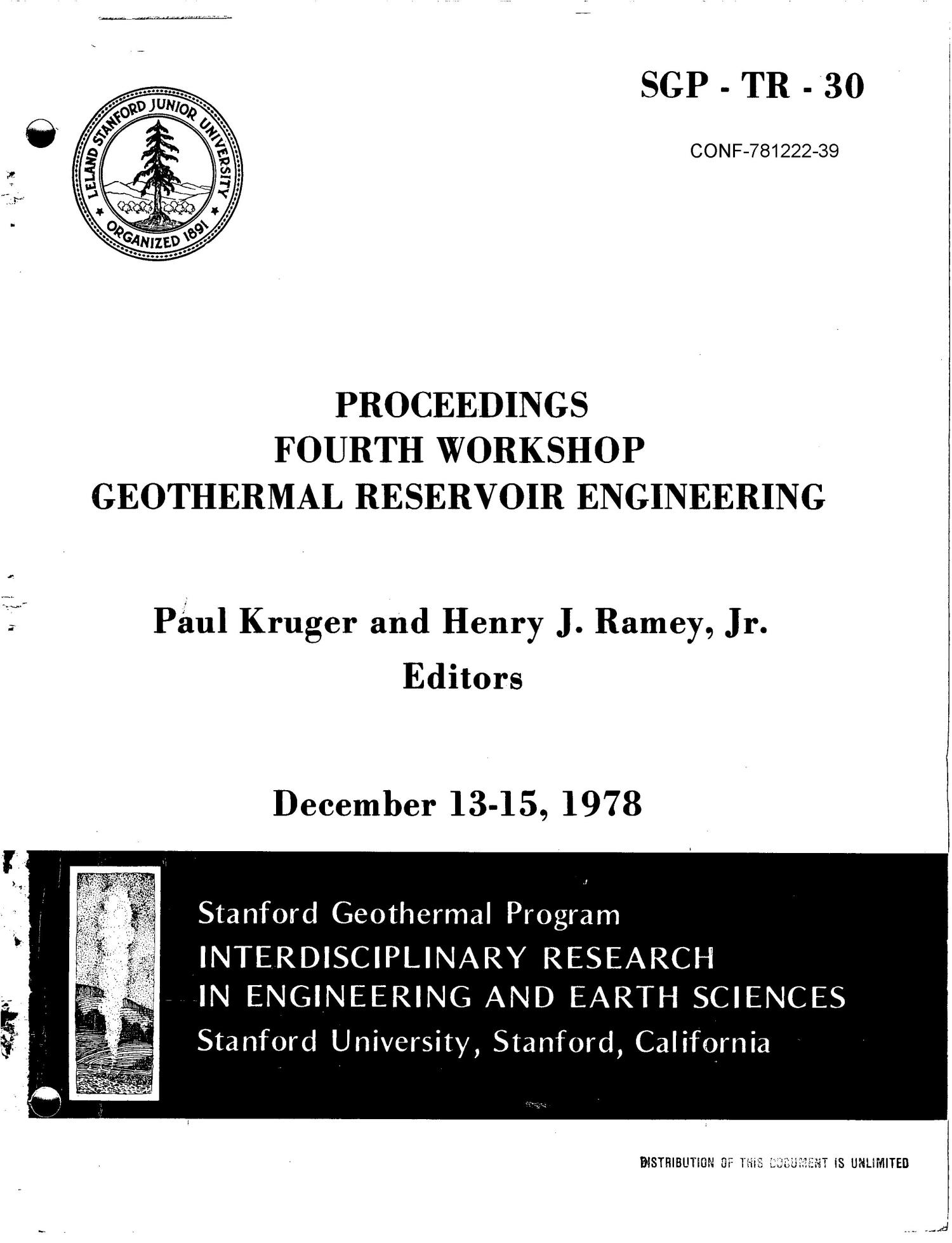 Annotated research bibliography for geothermal reservoir engineering                                                                                                      [Sequence #]: 1 of 6