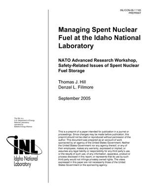Primary view of object titled 'MANAGING SPENT NUCLEAR FUEL WASTES AT THE IDAHO NATIONAL LABORATORY'.