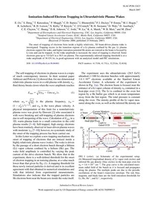 Primary view of object titled 'Ionization-Induced Electron Trapping inUltrarelativistic Plasma Wakes'.