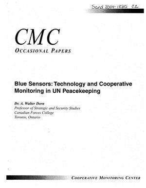 Primary view of object titled 'Blue sensors : technology and cooperative monitoring in UN peacekeeping.'.
