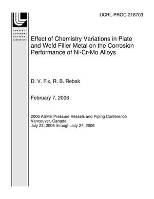 Primary view of object titled 'Effect of Chemistry Variations in Plate and Weld Filler Metal on the Corrosion Performance of Ni-Cr-Mo Alloys'.