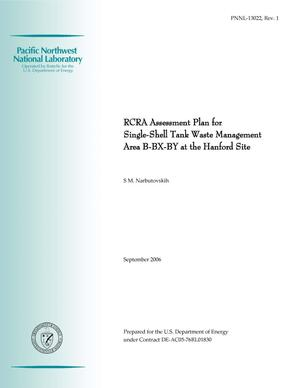 Primary view of object titled 'RCRA Assessment Plan for Single-Shell Tank Waste Management Area B-BX-BY at the Hanford Site'.