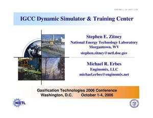 Primary view of object titled 'IGCC Dynamic Simulator and Training Center'.